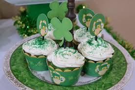 st patricks baby shower candles and favors