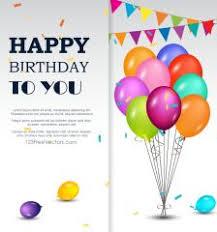 happy birthday background vector template happy birthday images
