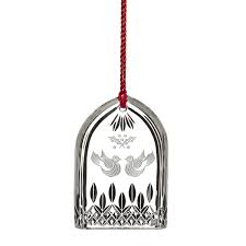 12 days of 2015 lismore two turtle doves ornament