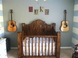 rustic solid wood baby crib for boys with dark finish decofurnish