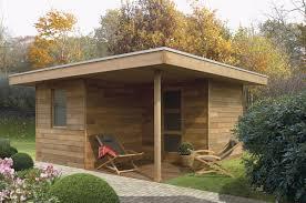 idee de jardin moderne abri bois design