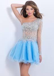 turmec one shoulder long sleeve prom dress
