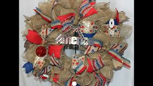 Halloween Wreaths Using Deco Mesh by How To Make A Ruffle Deco Mesh Wreath Patriotic Youtube