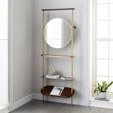modern entryway mirror coat rack west elm