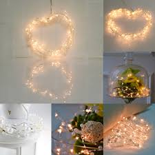 6m 60 led lights pearl copper wire string light warm white