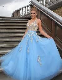light blue formal dresses light blue prom dresses tulle prom by prom dresses on zibbet