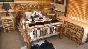 Rustic Log Bedroom Furniture Bradley U0027s Utah Log Furniture Rustic Aspen Log Bedroom Collection