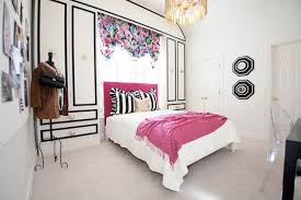 Pink Black U0026 White Teen by Girls Black Accent Walls Design Ideas