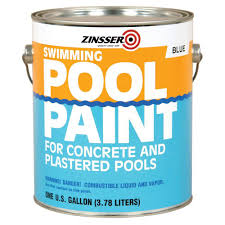 zinsser 1 gal blue flat oil based swimming pool paint case of 4