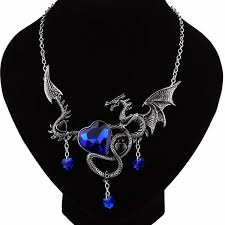 sapphire chain necklace images Sapphire dragon necklace blue fire store jpg