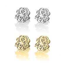 monogrammed earrings monogrammed earrings studs jurnees path craft n company