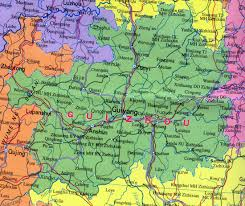 Map Of China Provinces by Guizhou Map Map Of Guizhou China China Travel Map