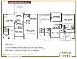 riviera floor plan 2nd story master bed niblock homes nc