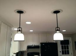 Replace Can Light With Pendant Change Recessed Light To Pendant Ricardoigea