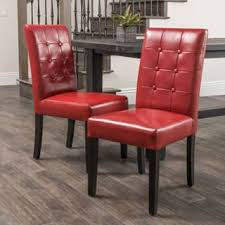 Red Parsons Chairs Red Dining Room U0026 Kitchen Chairs Shop The Best Deals For Nov