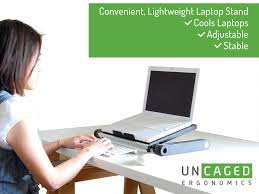 Portable Laptop Desk On Wheels by Amazon Com Uncaged Ergonomics Welb Workez Light Adjustable