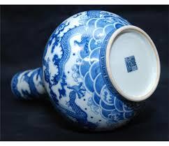 Blue And White Vases Antique Antique Chinese Jiaqing Blue U0026 White Dragons Vase
