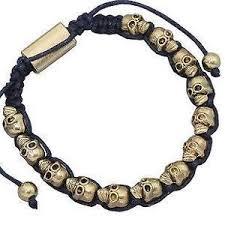 black bead bracelet ebay images Skull bracelet ebay JPG