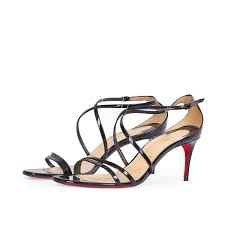 christian louboutin patent leather gwynitta 100 strappy sandals