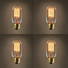 edison tubular t14 vintage bulbs fully dimmable warm white 40w