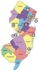 New Jersey Map Nj Scuba Diving Clubs Council Members Meetings