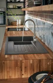 Triple Bowl Kitchen Sinks by Kitchen Sinks Drop In Composite Granite Sink Rectangular Almond