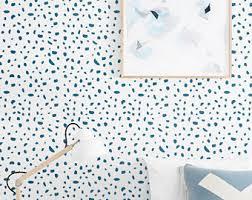 self adhesive cute spot pattern wallpaper scallop removable