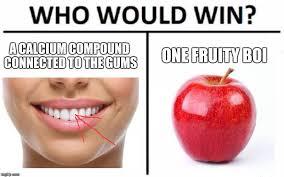 Teh Fruity who would win meme imgflip