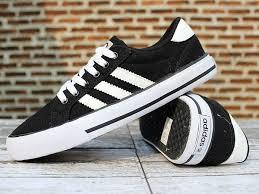 Sepatu Adidas Kets jual sepatu casual adidas neo hitam putih jambrin s shop 1