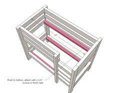 Ana White Build A Side Street Bunk Beds Free And Easy Diy by Doll Iphone U0026 Ipad Doll Bunk Beds Ana White And Furniture Plans