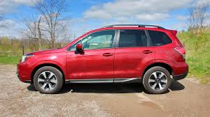 subaru forester red 2017 subaru forester 2 5i touring w tech test drive review