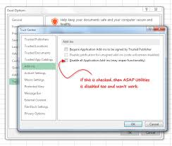 asap utilities for excel what to do if i don u0027t see asap