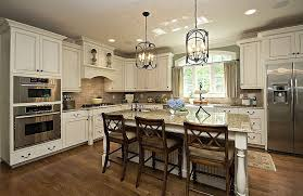 Restoration Hardware Island Lighting Traditional Kitchen With Simple Granite Counters L Shaped Within