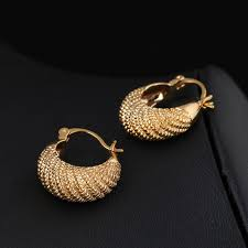 gold simple earrings summer style fashion gold earring cc simple design jewerly