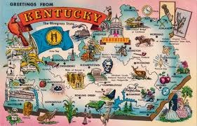Map Of Kentucky And Tennessee by Map Postcards Postcard Roundup