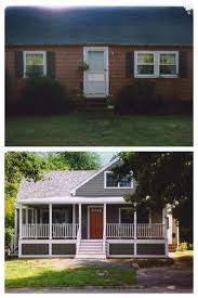 Front Porches On Colonial Homes by 176 Best Ugly House Makeovers Images On Pinterest Exterior