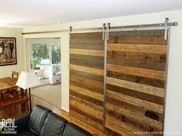 Barn Door Hardware Interior Diyhd 8ft Bent Straight Rustic Black Double Sliding Barn Wood Door