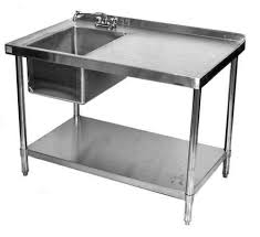 Stainless Steel Bench With Sink Stainless Steel Table Ebay