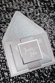 silver wedding invitations adele suite styled glitter package foil sted wedding