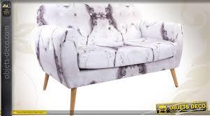 habillage canapé canapé de style vintage habillage velours motifs marbrés