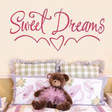 sweet dreams kids bedroom wall sticker by making statements sweet dreams kids bedroom wall sticker