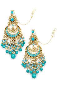 chandbali earrings karat designer jewellery online golden ruby string earrings