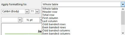 Change Table Style Word Word Modify And Create Custom Table Style