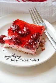 raspberry jello pretzel salad the idea room