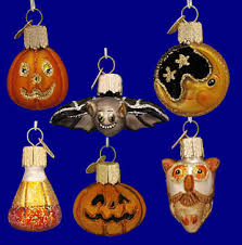 mini glass halloween ornaments set of 12 by old world christmas