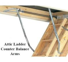 pull down attic ladder counter balance arms for attic ladders drop