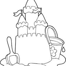 Creative Sand Castle Coloring Page Creative Sand Castle Coloring Sandcastle Coloring Page