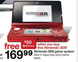 target black friday new 3ds target nintendo 3ds 109 99 after coupon and gift card