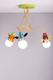 giraffe monkey zebra kids ceiling light pendant light boys girls
