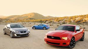 hyundai genesis coupe vs mustang battle of the sixes ford mustang v6 takes on hyundai genesis